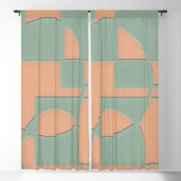 Circular Squares and Rectangles Blackout Curtain