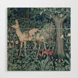 William Morris Forest Deer Wood Wall Art