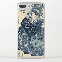 Utagawa Kunisada - The Courtesan Hanao Of Ogi-Ya Clear iPhone Case