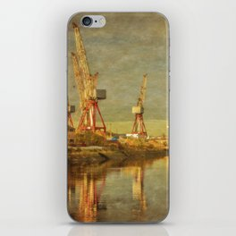 Shipbuilding on the River Clyde iPhone Skin