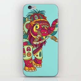 Mammoth, cool wall art for kids and adults alike iPhone Skin