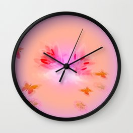 Lily in the Clouds Wall Clock