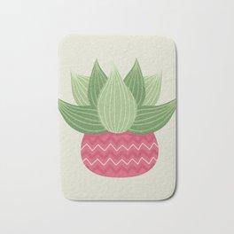 Watercolor Cactus Painting Bath Mat