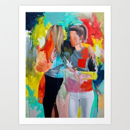 Sam and Mon Art Print