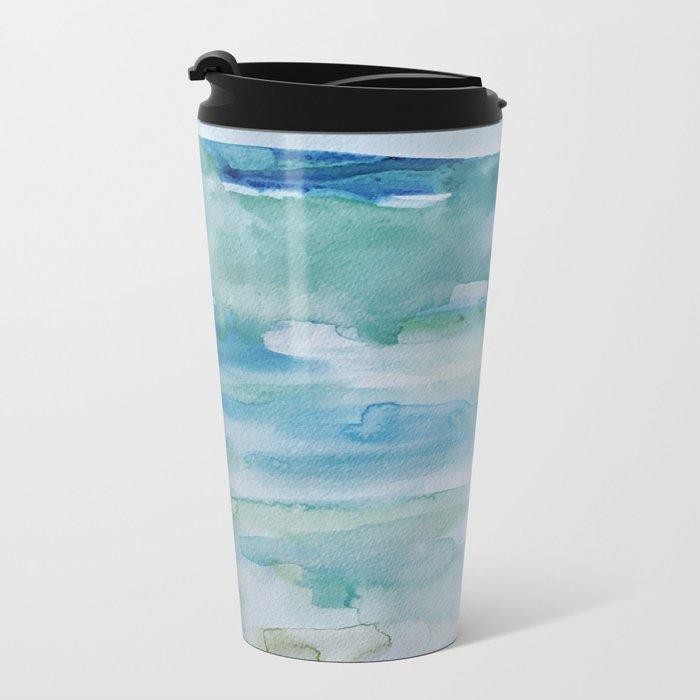 Miami Beach Watercolor #1 Metal Travel Mug