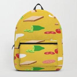 Breakfast Pattern Backpack