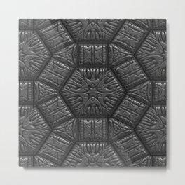 Intriguing shimmering Star Pattern,silver Metal Print