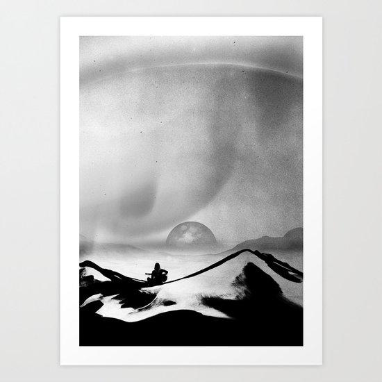 Black Space Song Art Print