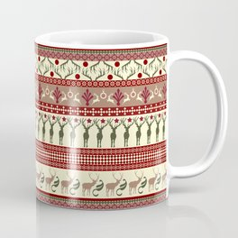 Classic Reindeer Ugly Sweater Coffee Mug