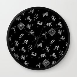 Zodiac Menagerie Wall Clock
