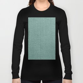 Woven Texture Mint Long Sleeve T-shirt