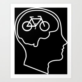 Bikes on the Brain Art Print