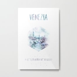 Coordinates VENICE Grand Canal | watercolor Metal Print