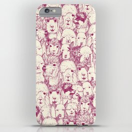 just alpacas cherry pearl iPhone Case