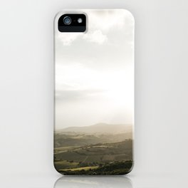 Travel photography | Tuscany | Mountain view | Golden Hour | Colorful iPhone Case