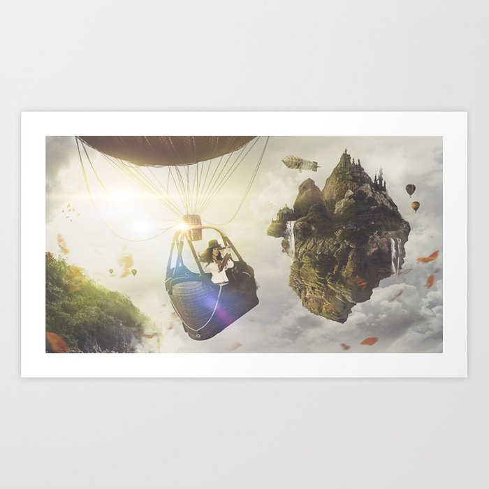 IN THE SKY Art Print