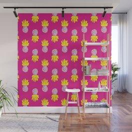 Funky Pineapples Wall Mural