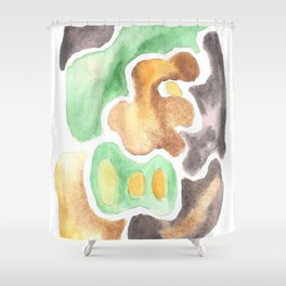 170623 Colour Shapes Watercolor 4  | Abstract Shapes Drawing | Abstract Shapes Art Shower Curtain