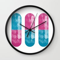 pills Wall Clocks featuring Pills by Oomy12