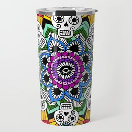 mandalavera de colores Travel Mug