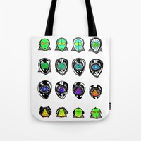third eye Tote Bags featuring Third Eye by Yuriy Miron