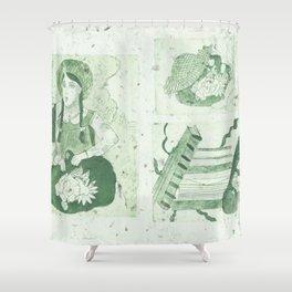 Anne of Gren Gables Green Shower Curtain