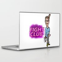 tyler durden Laptop & iPad Skins featuring Edward Norton and Brad Pitt as Tyler Durden in...  The Fight Club Cartoon!  by beetoons