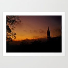 Glasgow University Art Print