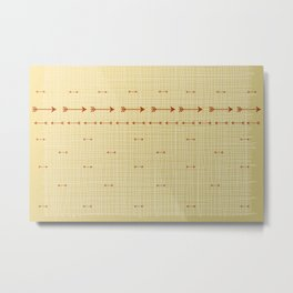 Arrows on burlap Metal Print
