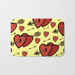 Heart background Bath Mat