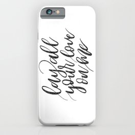 Lay all your love on me iPhone Case