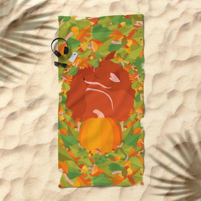 Mellow Autumn Beach Towel