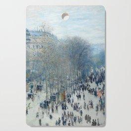 Claude Monet - Boulevard des Capucines, 1873 Cutting Board