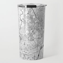 Washington D.C. White Map Travel Mug