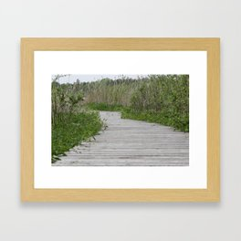 The route is the goal Framed Art Print