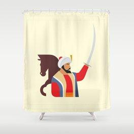 Minimal Ottoman Shower Curtain