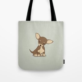 Chihuahua Puppy Illustration Tote Bag