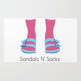 Blue/Pink Sandalz N' Sockz Rug