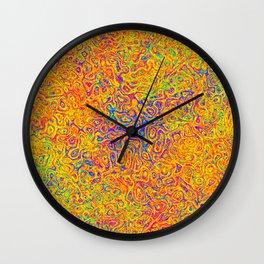 Orange and Blue Medley Wall Clock