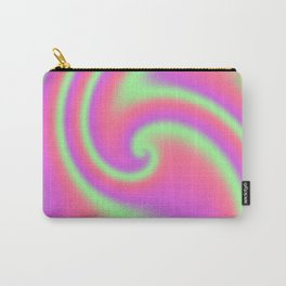 Tutti Frutti Ribbon Candy Fractal Carry-All Pouch