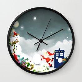 Tardis Santa Wall Clock