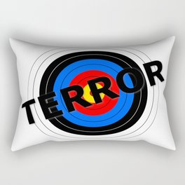 Terror Target Rectangular Pillow