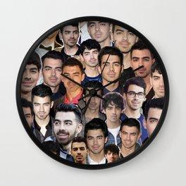 Joe Jonas collage Wall Clock