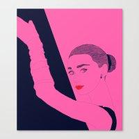 hepburn Canvas Prints featuring Hepburn by Agnes Domokos