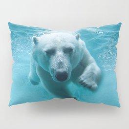 Polar Bear Swimming Pillow Sham