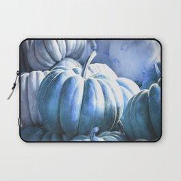 Autumn Pumpkins Blue Laptop Sleeve