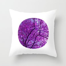 purple tree XXXI Throw Pillow