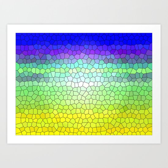 Stained Glass Abstract Art Print