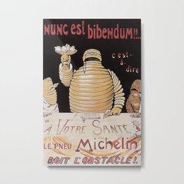 Vintage poster - Michelin Metal Print