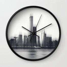 Rotterdam Skyline Abstraction Wall Clock
